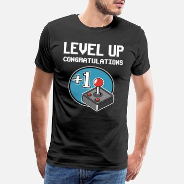 Majorité Level Up +1 Year Birthday Gaming Gamer Gift - T-shirt premium Homme
