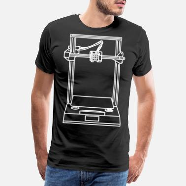 Printer 3D printer - Men's Premium T-Shirt