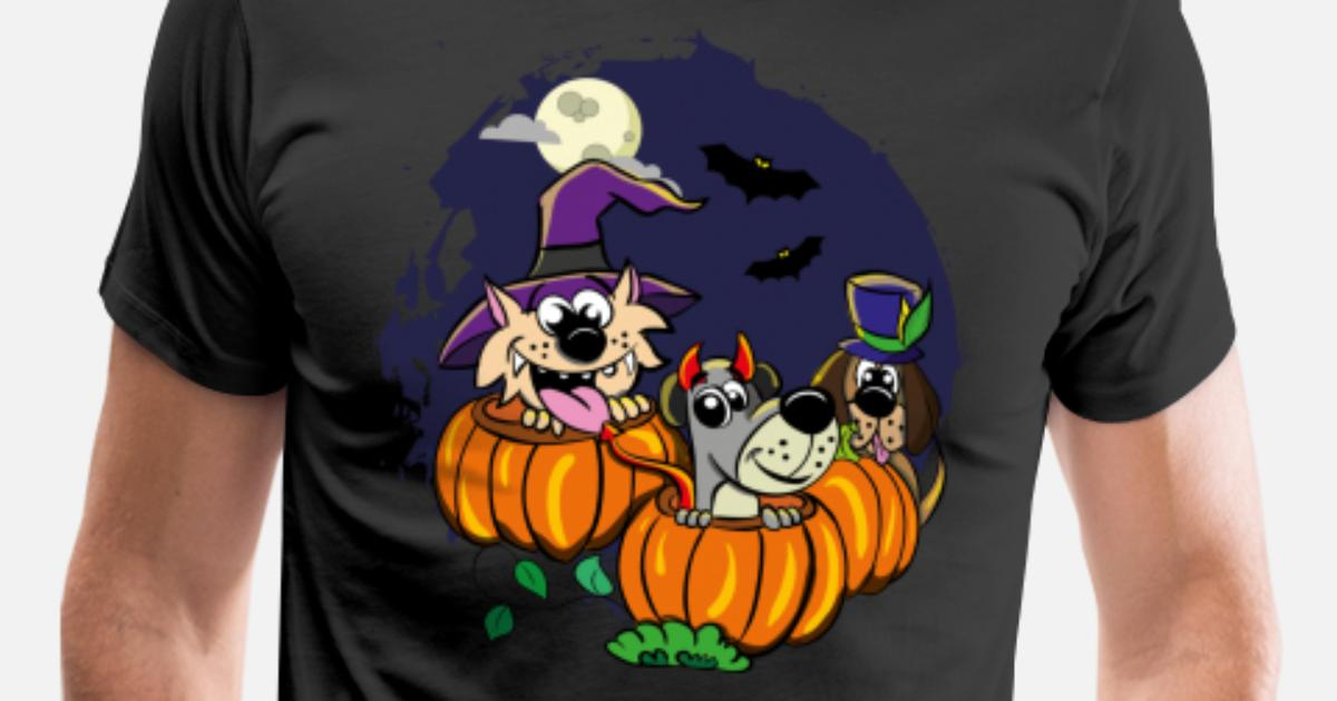 6b41e96a7 Halloween cat dog animal pumpkin gift cartoon Men's Premium T-Shirt |  Spreadshirt