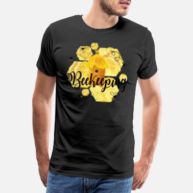 Honeycomb Beekeepers - beekeeping - beekeepers - Men's Premium T-Shirt