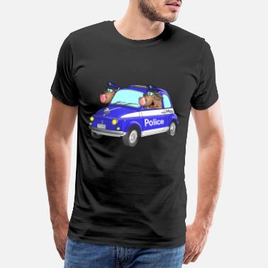 Cars Cartoon Police cartoon - Men's Premium T-Shirt