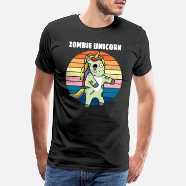 Fable Unicorn Zombie Horror Gift - Men's Premium T-Shirt