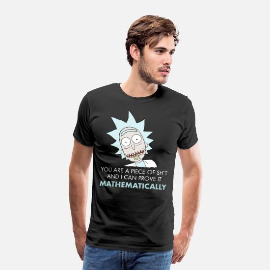 Funny T-Shirts - Rick And Morty Mathematical Proof Quote - Men's Premium T-Shirt black