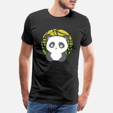 Task Cute Gaming Panda rolling Panda Pandemic - Men's Premium T-Shirt
