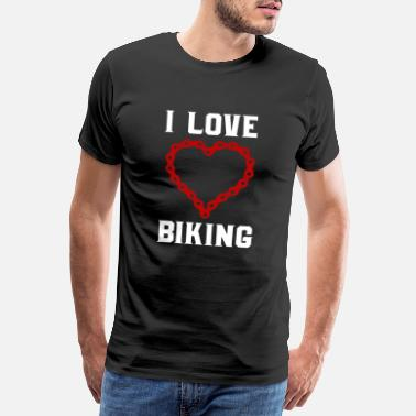 Cyclist Id rather be biking funny biker tee with quote - Männer Premium T-Shirt