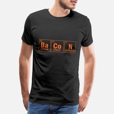 Bacon Bacon Periodisk tabel Sjov Bacon-daggave - Premium T-shirt mænd