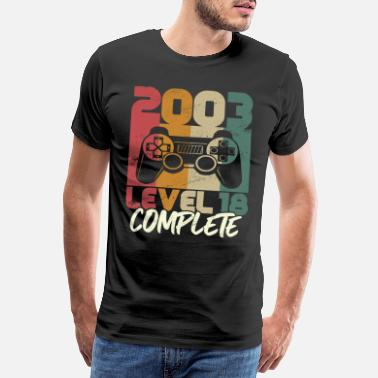 Coming Of Age Level 18 Complete Birthday 18 Year Old Gamer - Men's Premium T-Shirt