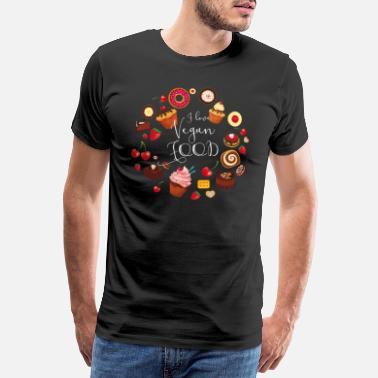Dessert Vegan food cake pie muffin cupcake sweet Donat - Men's Premium T-Shirt