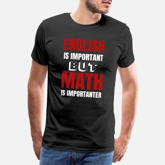 Mens t skjorte stol på meg jeg er en matematikk lærer