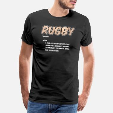 Rugby Rugby Definition Greatest Sport Ever Funny Athlete - Men's Premium T-Shirt