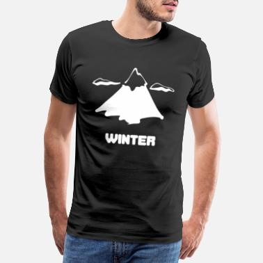 Winter Vacation Winter mountain winter vacation - Men's Premium T-Shirt