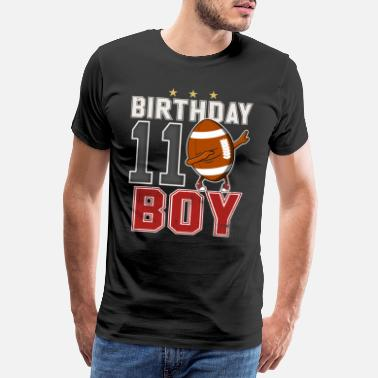 11th Birthday 11 Years Old Dabbing Football - 11th Gifts - Men's Premium T-Shirt