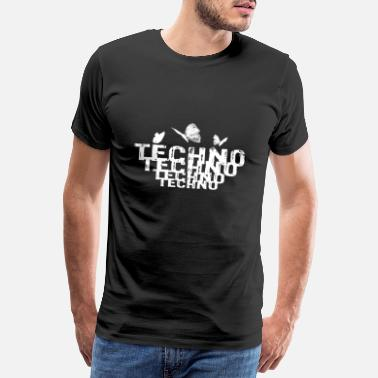 Charts Techno Butterfly Music EDM Charts Trance Festival - Camiseta premium hombre