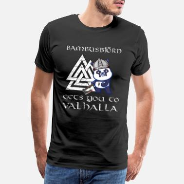 Mythologie Bambusbjörn Warrior Viking Mythologie Viking - T-shirt premium Homme