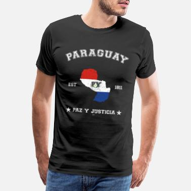 Latino Paraguay vintage map with date of founding - Männer Premium T-Shirt
