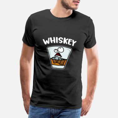 Liquor Whiskey glass - Men's Premium T-Shirt
