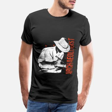 Monument Archeologist science archeology history job - Men's Premium T-Shirt