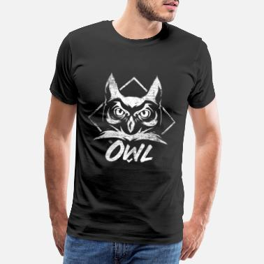 Night Owl Owl forest bird night active gift - Men's Premium T-Shirt