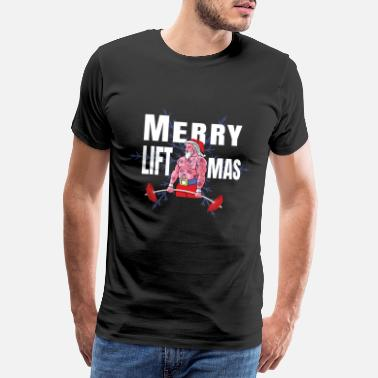 Pull Funny Merry Liftmas Ugly Christmas design - Men's Premium T-Shirt
