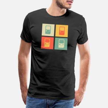 Farmor Retrogaming Gaming Ringer Old School Gift 2d - Premium-T-shirt herr