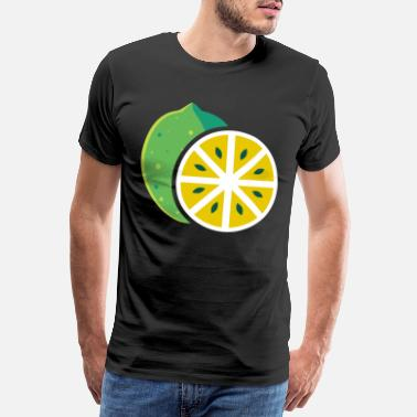 Sour Lime, fruit fruit fruit fruity citrus - Men's Premium T-Shirt