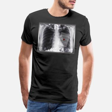 Cardiografie X RAY PLAYING CARDIO - Mannen premium T-shirt