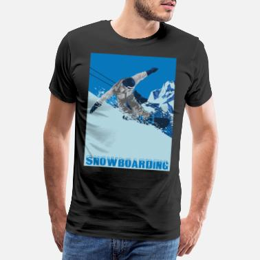 Father Child Snowboarding Winter Sports Snowboard Snowboarder - Men's Premium T-Shirt