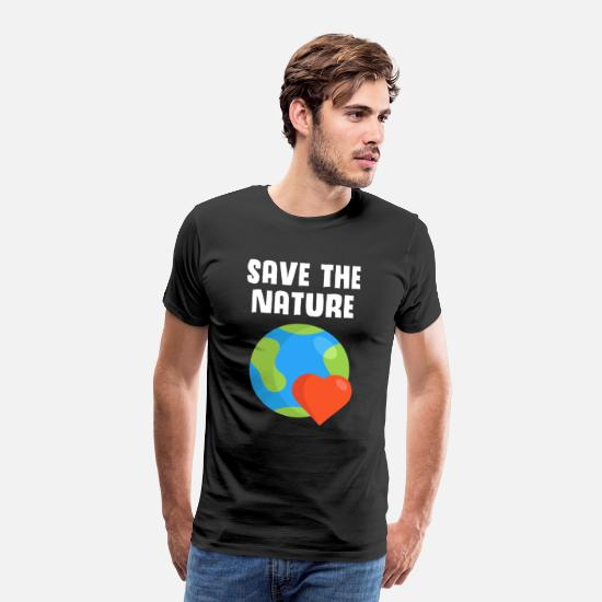 Nature Conservation T-Shirts - Save the Nature / Save the nature - Men's Premium T-Shirt black
