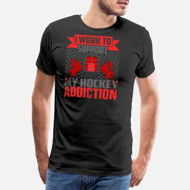 Dedicated Hockey Addict Goal Score Gift Idea Gift - Men's Premium T-Shirt