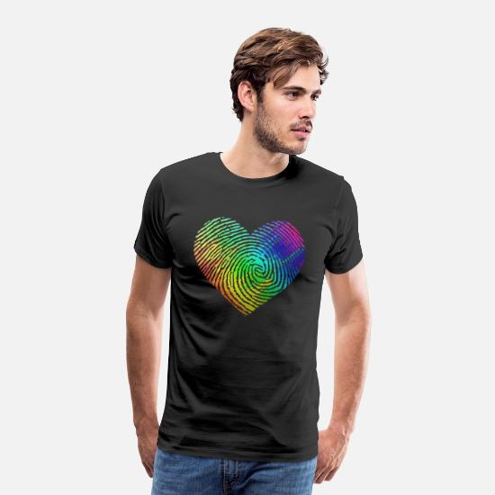 Pride T-Shirts - Gay Pride DNA Rainbow - Men's Premium T-Shirt black