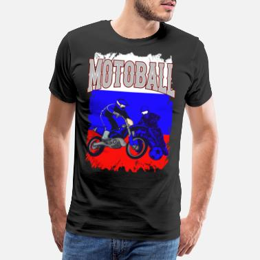 B Ball Motoball Russland Motocross Moto Ball Gave - Premium T-skjorte for menn