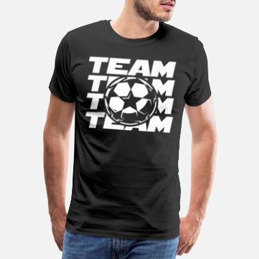 Football Pitch Football team soccer team football club - Men's Premium T-Shirt