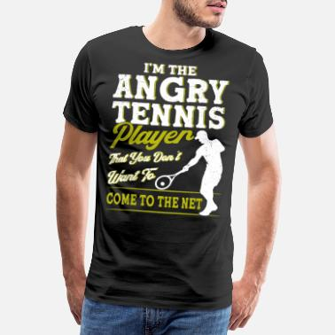 Net Sportsman tennisracket tennis gave - Premium T-shirt mænd