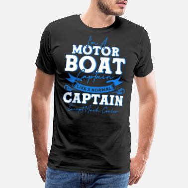 Yacht Yacht boat captain motorboat gift - Men's Premium T-Shirt