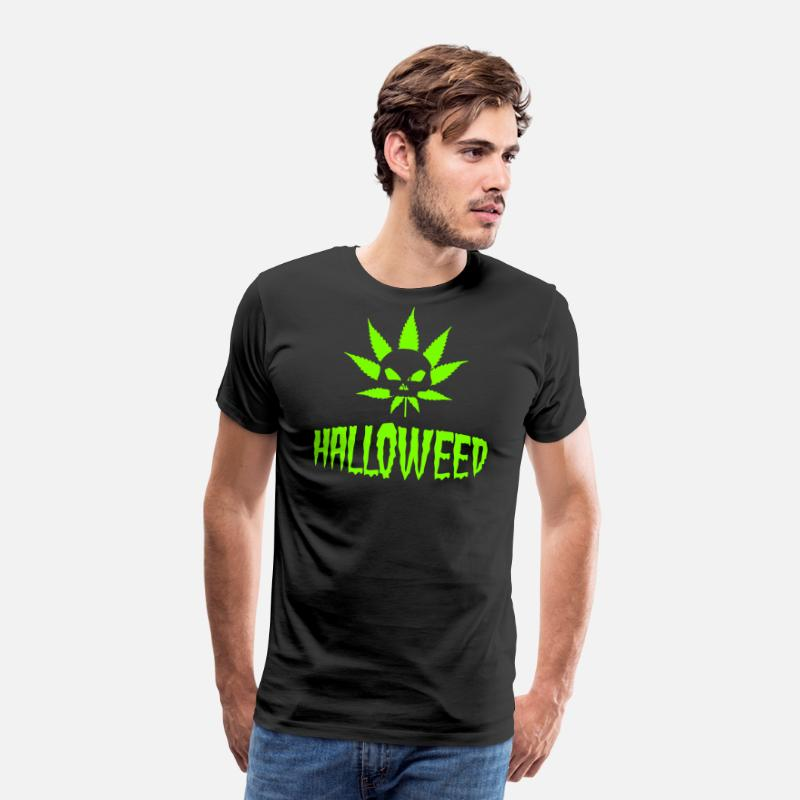 Hemp T-Shirts - Halloweed - Halloween Cannabis Marijuana THC CBD - Men's Premium T-Shirt black
