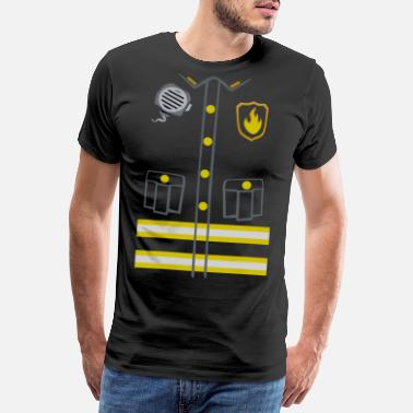 Fireman Fireman Costume - Dark edition - Men's Premium T-Shirt