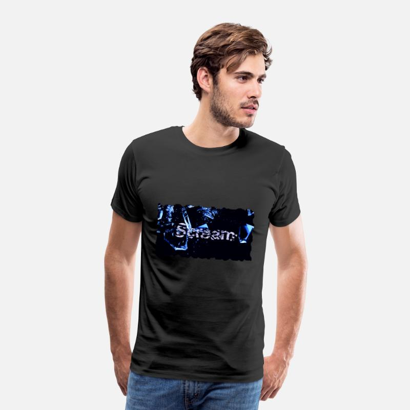 Broken T-Shirts - Broken Scream - Men's Premium T-Shirt black