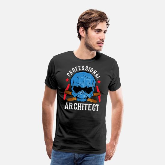 Love T-Shirts - Architecture love designer work house construction bricklayer - Men's Premium T-Shirt black