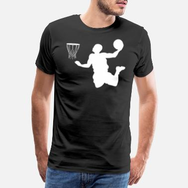 Slamdunk Basketball dunking gave basketballspiller - Premium T-skjorte for menn