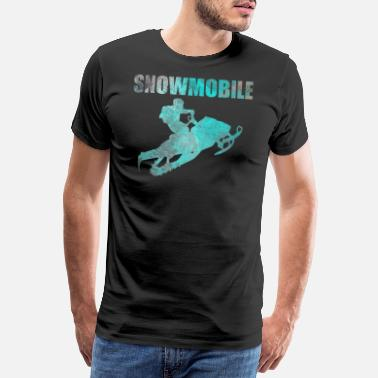 Sled Snowmobile Snowmobile Gift Retro Vintage - Men's Premium T-Shirt