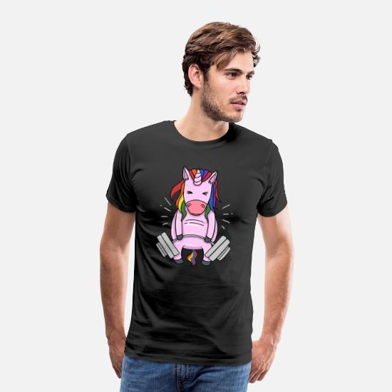 Weightlifting T-Shirts - Weightlifting Unicorn - Men's Premium T-Shirt black
