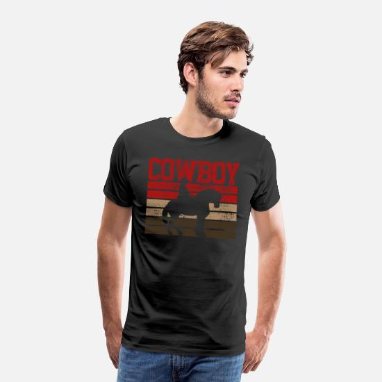 Rodeo T-Shirts - cowboy - Men's Premium T-Shirt black