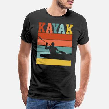 Rowing Kayak KAYAK RETRO DESIGN - Men's Premium T-Shirt