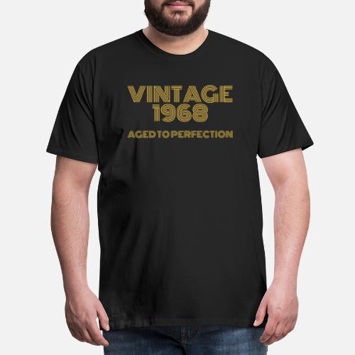 Mens Premium T ShirtVintage Pop Art 1968 Birthday Aged To Perfection
