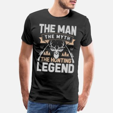 Socialism The man the myth the hunting legend - Men's Premium T-Shirt