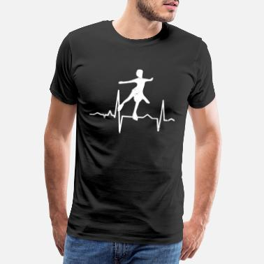 Snow Skate Ice skating heartbeat - Men's Premium T-Shirt
