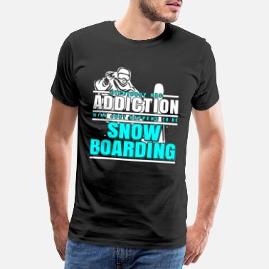 Skate Skater Snowboarding skater is looking for ice skating - Men's Premium T-Shirt