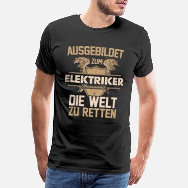 Électronique Électricien Électricien Électricien Électricité Électricité - T-shirt premium Homme