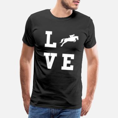 Mare Horse riding equestrian horse horse racing rider steed - Men's Premium T-Shirt