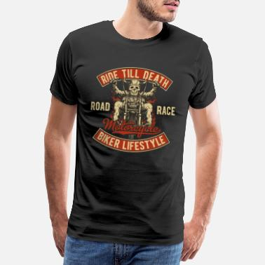 Bike Racer Biker bike biker motorcycle chopper motorcycle - Men's Premium T-Shirt